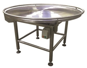 All Stainless Steel Rotary Turn Table, Tubular Product Retainer